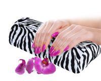 cuscino manicure zebrato
