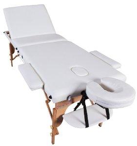 Lettino Da Massaggio In Legno.Lettino Da Massaggio In Legno Colore Bianco Crema Pieghevole
