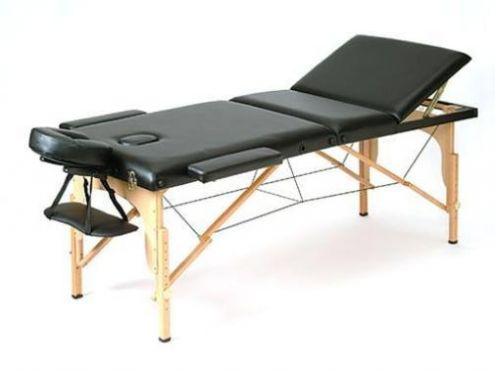 Lettino Da Massaggio Pieghevole.Lettino Da Massaggio In Legno Colore Nero Pieghevole